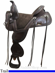 "** SALE ** 13.5"" to 17.5"" Circle Y Cloud Peak Tree Free Trail Saddle 1300 w/Free Pad"