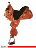 "13.5"" to 16.5"" Circle Y Jackie Jatzlau Tulip Treeless Barrel Saddle 1332 *free gift*"