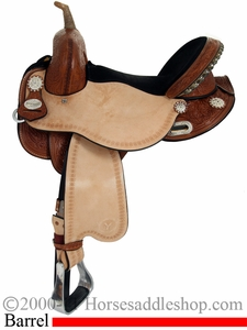 "13.5"" to 16.5"" Circle Y Just B Natural Tree Free Calgary Barrel Saddle 3912 *free pad or cash discount*"