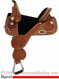 "13.5"" 14.5"" 15.5"" 16.5"" Circle Y Tammy Fischer Treeless Barrel Racing Saddle 1310 *FREE MATCHING CIRCLE Y SADDLE PAD OR CASH DISCOUNT!*"