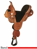 "** SALE **13.5"" to 16.5"" Circle Y Tammy Fischer Treeless Round Skirt Barrel Saddle 1312 1313 *free gift*"