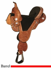 "13.5"" to 16.5"" Circle Y Tammy Fischer Treeless Round Skirt Barrel Saddle 1312 1313 *free pad or cash discount*"