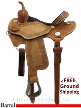 "13.5"" Reinsman Charmayne James 4281 Barrel Saddle, Floor Model usrs3026 *Free Shipping*"
