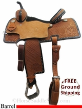"PRICE REDUCED! 13.5"" Reinsman Charmayne James 4287 Barrel Saddle, Wide Tree, Floor Model usrs3024 *Free Shipping*"