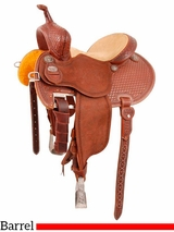 "** SALE ** 12.5"" to 15.5"" Martin Saddlery FX3 Barrel Racing Saddle mr67TW"