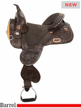 "** SALE ** 13.5"" to 16.5"" Circle Y Jatzlau Medium Horn Treeless Barrel Saddle 1328 w/Free Pad"