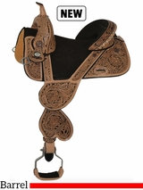 "13.5"" to 16.5"" Circle Y Jatzlau Short Horn Treeless Barrel Saddle 1329 w/Free Pad"