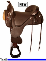"13.5"" to 17.5"" Circle Y Basin Treeless Trail Saddle 1301"