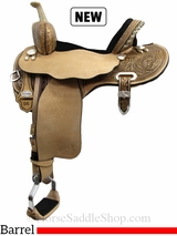 "13.5"" to 17"" Circle Y Josey Ultimate Hiphugger Barrel Saddle 1174 w/Free Pad"