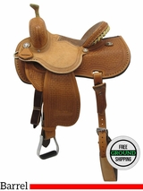 "PRICE REDUCED! 13.5"" Used Reinsman Marlene McRae Special Effx Barrel Saddle 4243 usrs3512 *Free Shipping*"