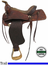 "SOLD 2016/04/21 PRICE REDUCED! 13.5"" Used Ryon Trail Saddle usry2941 *Free Shipping*"