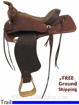 "PRICE REDUCED! 13.5"" Used Ryon Trail Saddle usry2941 *Free Shipping*"