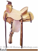 "13"" Alamo A Fork Wide Horn Ranch Saddle 1013"