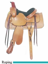 "13"" American Saddlery Young Gun Roper Saddle am650"