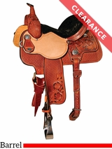 "13"" Reinsman Molly Powell Painted Daisy Barrel Saddle 4262 CLEARANCE"