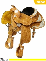 "13"" to 14"" Colorado Saddlery's The ""Show Stopper"" Saddle 300-3112-4112"