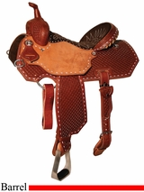 "13"" to 15.5"" Reinsman Charmayne James Diamond Waffle Barrel Saddle 4286"