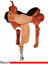 "13"" to 15.5"" Reinsman Charmayne James Snowflake & Floral Barrel Saddle 4281"