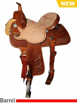 "** SALE ** 13"" to 15"" Reinsman Molly Powell Barrel Saddle 4263"