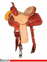 "13"" to 15"" Reinsman Molly Powell Daisy & Diamond Barrel Saddle 4261"