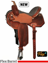 "13"" to 16"" Circle Y Lisa Lockhart Copper Flex2 Barrel Saddle 1550 w/Free Pad"