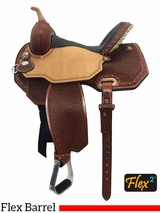 "** SALE ** 13"" to 16"" Circle Y Lisa Lockhart Ambition Flex2 Barrel Saddle 1550 w/Free Pad"