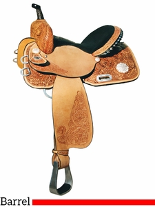 "** SALE ** 13"" to 16"" Circle Y Johnson Competitor Barrel Saddle 1502 w/Free pad"