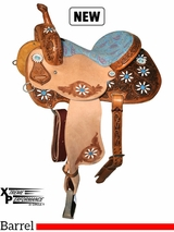 "13"" to 16"" Circle Y Xtreme Performance Blossom Barrel Saddle 2161 w/Free Pad"