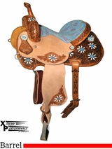 "** SALE ** 13"" to 16"" Circle Y Xtreme Performance Blossom Barrel Saddle 2161 w/Free Pad"