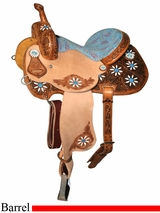 "13"" to 16"" Circle Y Xtreme Performance Blossom Barrel Saddle 2161 *free gift*"