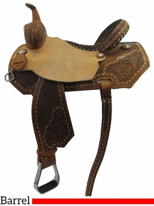"13"" to 16"" Circle Y XP Silesia Barrel Saddle 2156  w/Free Pad"