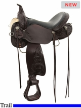 "** SALE ** 13"" to 17"" High Horse by Circle Y Mesquite Trail Saddle 6864"