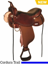 "** SALE ** 13"" to 17"" High Horse Willow Springs Cordura Trail Saddle 6913"