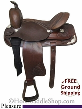 """NO LONGER AVAILABLE PRICE REDUCED! 13"""" Used Pleasure Saddle usun2554 *Free Shipping*"""