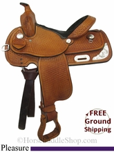 """PRICE REDUCED! 13"""" Used Rocking R Pleasure Saddle, Wide Tree usrr2792 *Free Shipping*"""