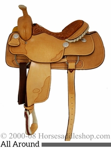 """14"""" to 16"""" Billy Cook Basket Stamped Ladies All Around Saddle 2046"""