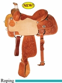 "14"" 14.5"" 15"" 15.5"" 16"" Reinsman Calf Roper Saddle, Reg or Wide Tree 4301"