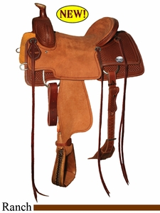 "15"" to 17"" Reinsman Ranch Roper Saddle, Reg or Wide Tree 4604"