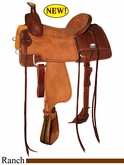 "14"" 14.5"" 15"" 15.5"" 16"" Reinsman Ranch Roper Saddle, Reg or Wide Tree 4604"