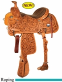 "14"" 14.5"" 15"" 15.5"" 16"" Reinsman Team Roper Saddle, Reg or Wide Tree 4401"