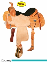 "14"" 14.5"" 15"" 15.5"" 16"" Reinsman Team Roper Saddle, Reg or Wide Tree 4403"