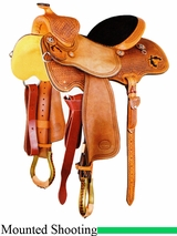 "14"" to 15.5"" Reinsman Cody Clark Mounted Shooting Saddle 4914"