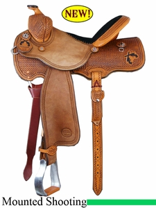 "14"" 14.5"" 15"" 15.5"" Reinsman Cody Clark Mounted Shooting Saddle 4914"