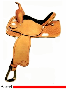 "NO LONGER AVAILABLE 14"" to 15"" Crates Balanced Barrel Saddle 2420 Equi-Fit Tree"