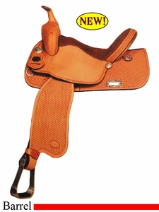 "DISCONTINUED 14"" to 15"" Crates Balanced Barrel Saddle 2421 Equi-Fit Tree"