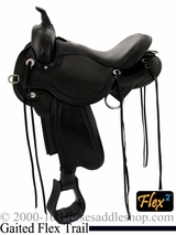 "** SALE **14"" to 17"" Circle Y Julie Goodnight Blue Ridge Flex2 Gaited Trail Saddle 1751 *free pad or cash discount*"