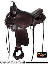 "14"" to 17"" Circle Y Julie Goodnight Blue Ridge Flex2 Gaited Trail Saddle 1751 w/Free Pad"