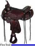 "14"" to 17"" Circle Y Julie Goodnight Wind River Flex2 Trail Saddle 1750 w/Free Pad"