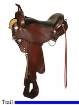 "DISCONTINUED 14"" to 18"" Circle Y Sycamore Flex2 Trail Saddle 2362"