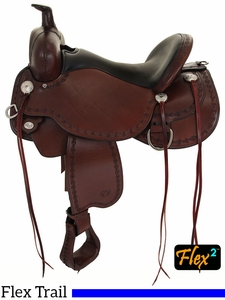 "** SALE ** 14"" to 17"" Circle Y Alpine Flex2 Trail Saddle 2377 w/Free Pad"